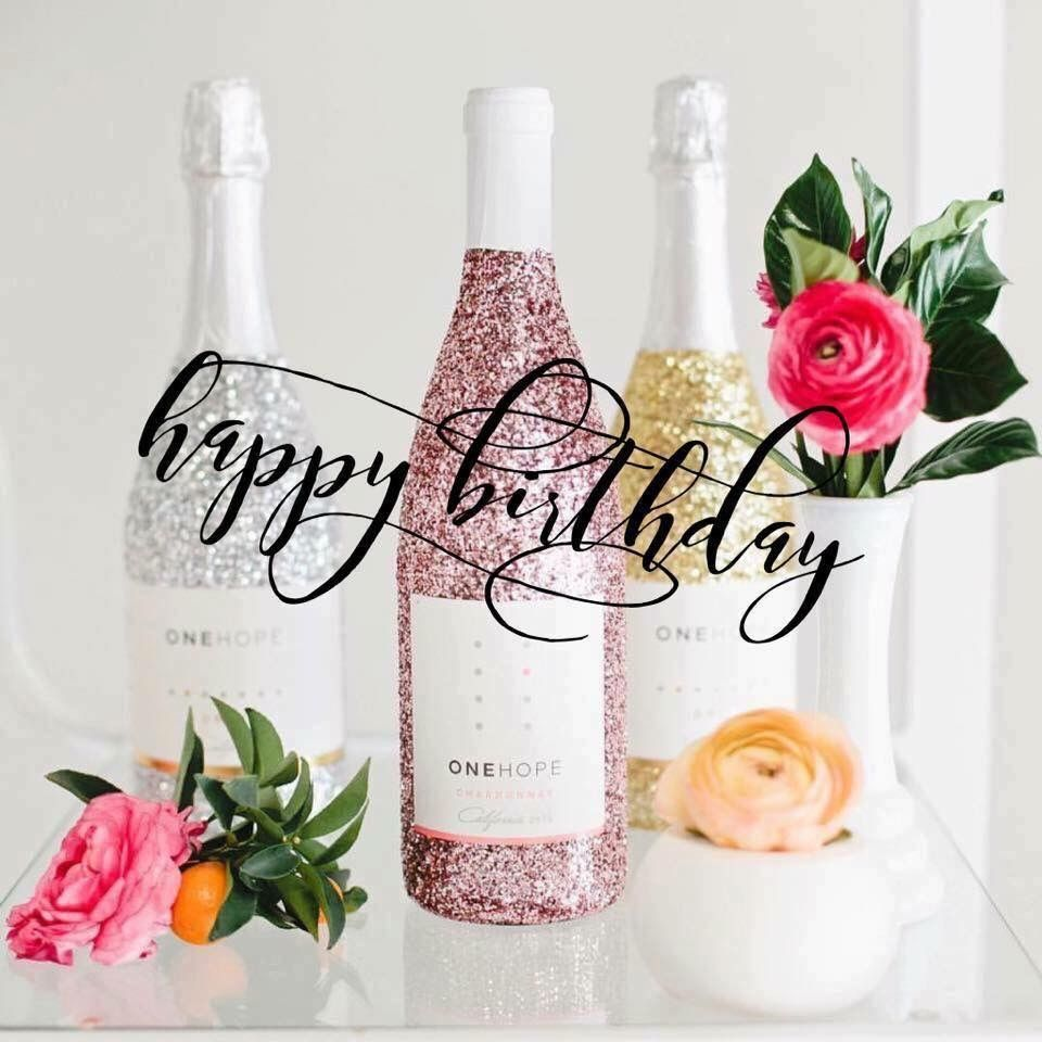 Birthday Gift Ideas Onehope wine, Glitter bottle, Buy wine