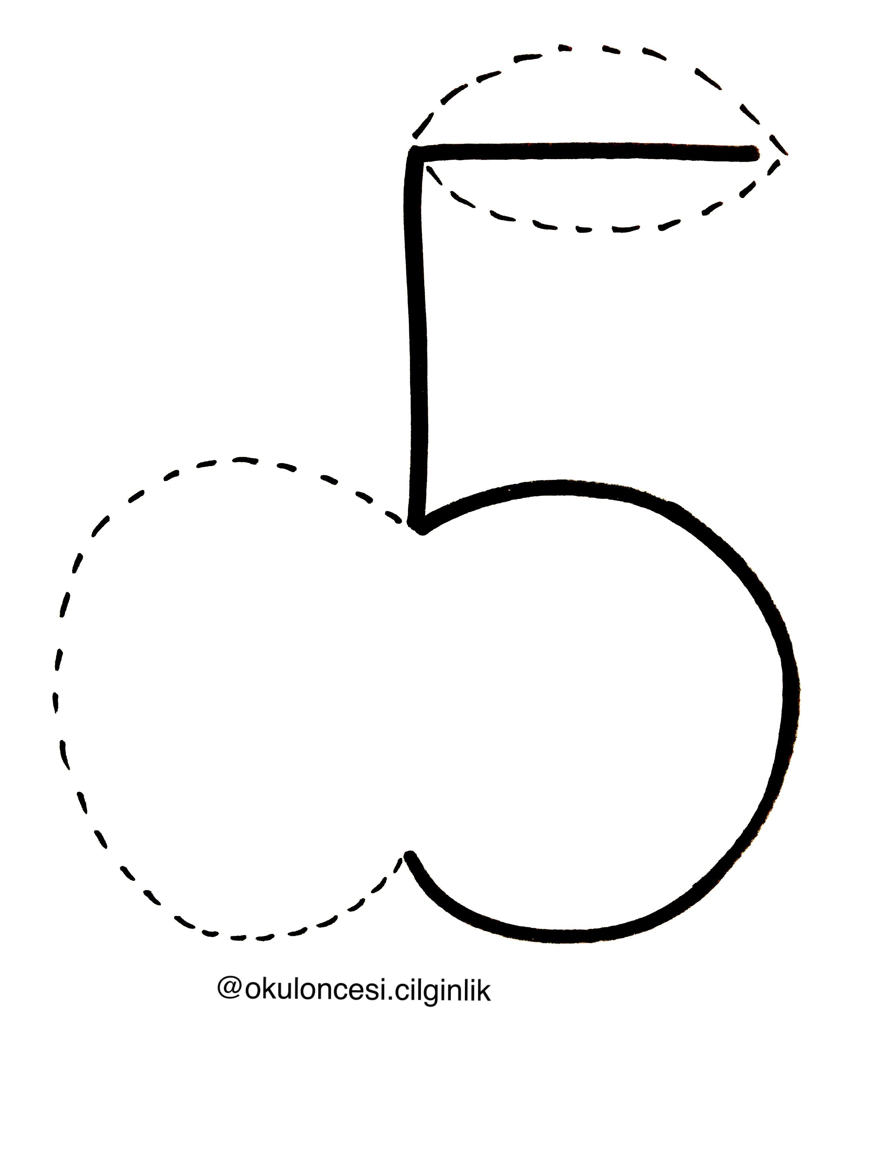 Bes Rakamindan Elma Basakogretmen Okuloncesicilginlik 5 5rakami Boyama Sayfalari Matematik Calisma Tablolari