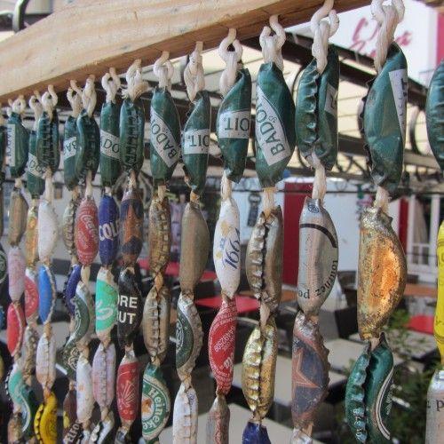 Türvorhang aus Flaschenverschlüssen   Upcycling, Repurposing ...