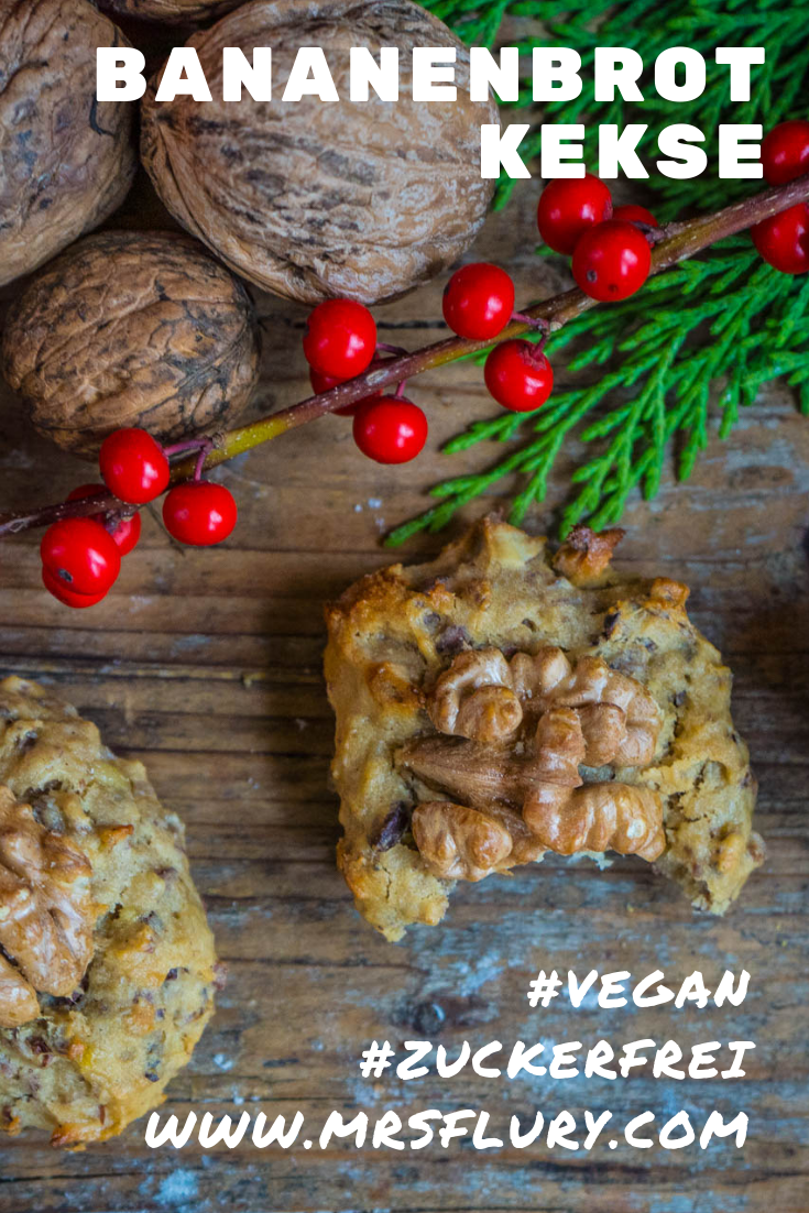 Bananenbrot Kekse / gesunde Cookies vegan - Mrs Flury - gesund essen & leben #bananabread