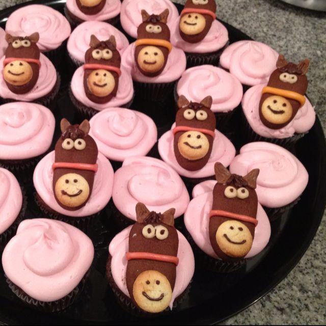 """""""Happy Birthday Josie-Girl!"""" Horse Cupcakes:"""