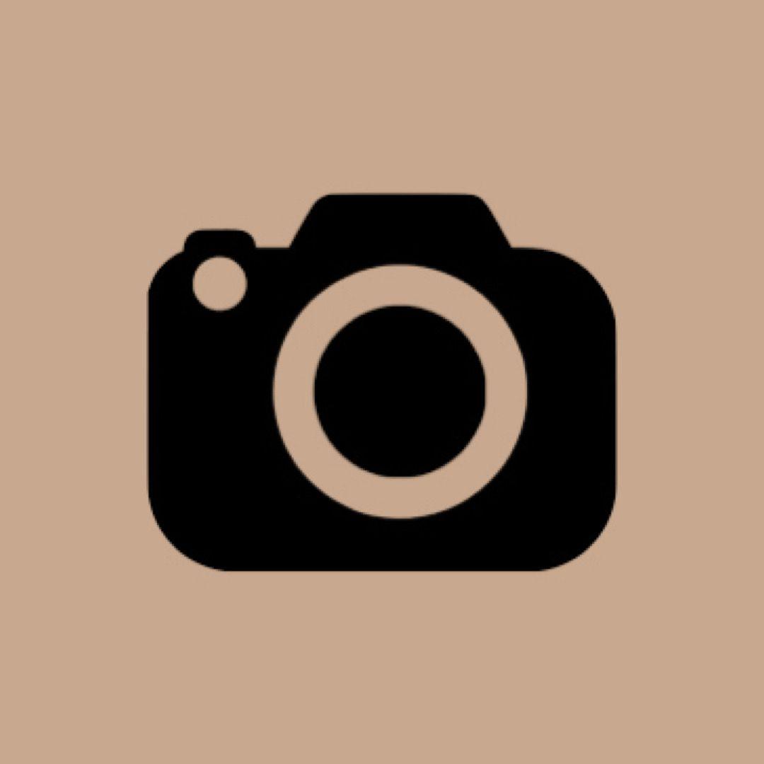 Camera Icon Beige Iphone Photo App Iphone Icon Homescreen Iphone