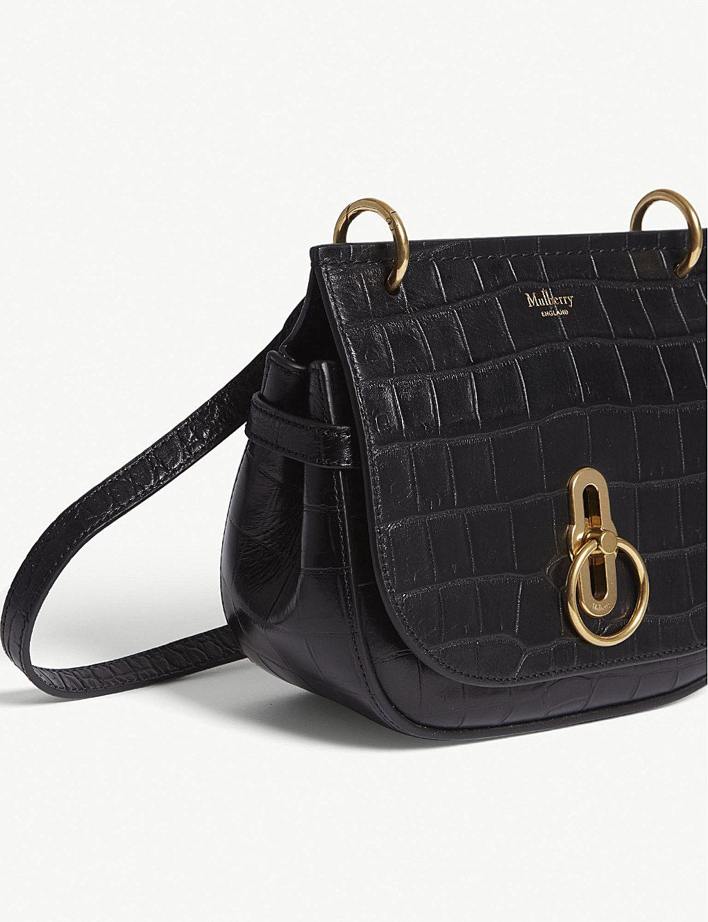 ebb7a4d71a MULBERRY - Amberley croc-embossed leather cross-body bag | Selfridges.com