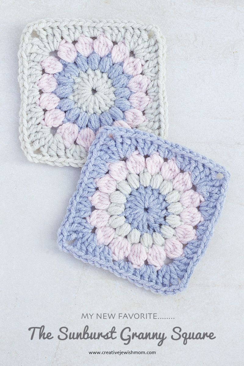 Crocheted Sunburst Granny Square Pattern | Ganchillo, Manta y Tejido