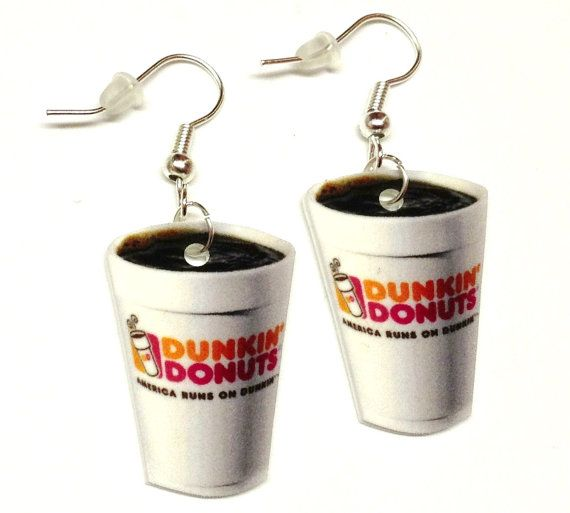 Just for giggles... Dunkin Donut Coffee Earrings by KarinaMadeThis on Etsy, $5.00