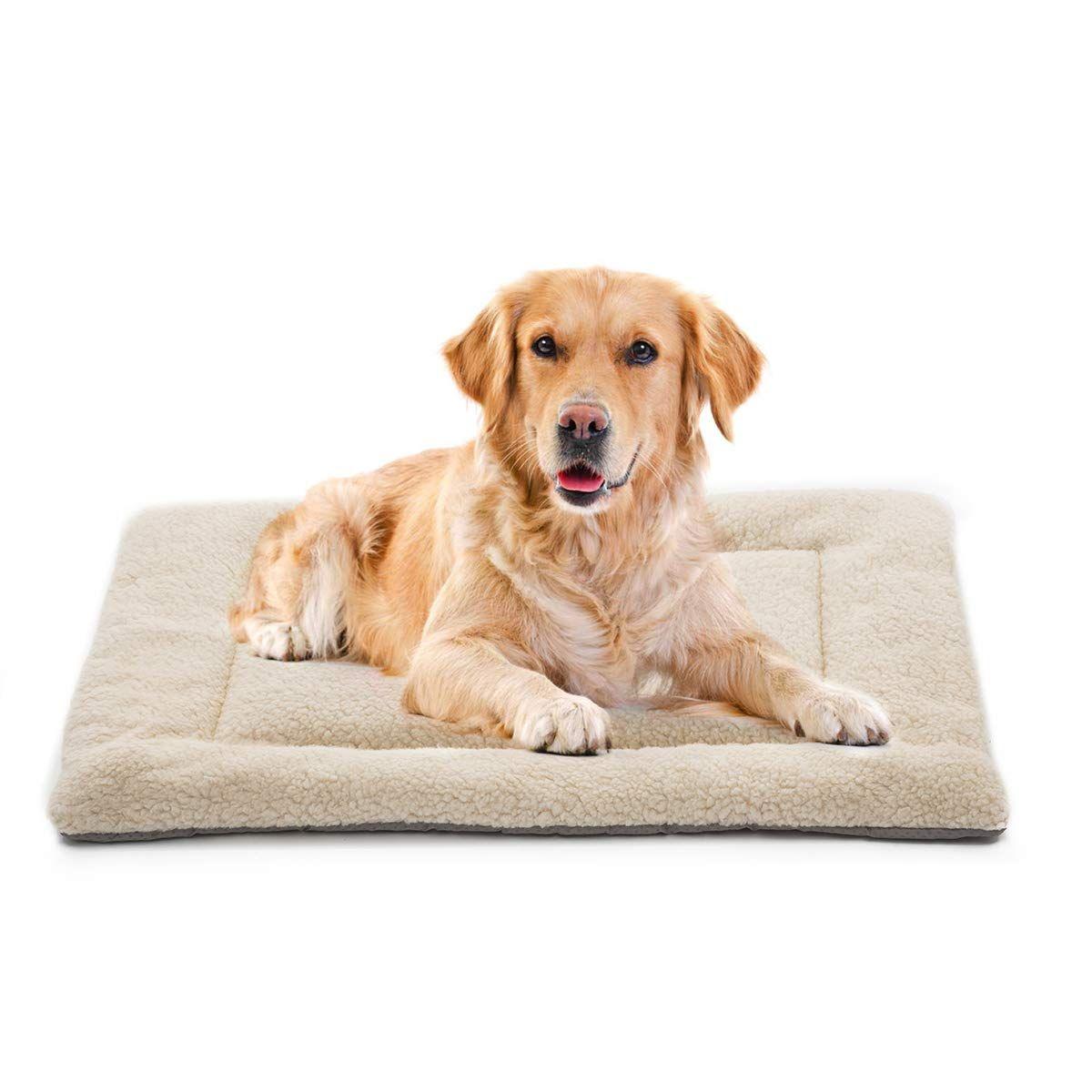 Invenho Dog Bed Mat Comfortable Soft Crate Pad Anti Slip Machine Washable Pad Dog Crate Pad Pet Bed Dog Bed Mat Dog Pet Beds Dog Crate Pads
