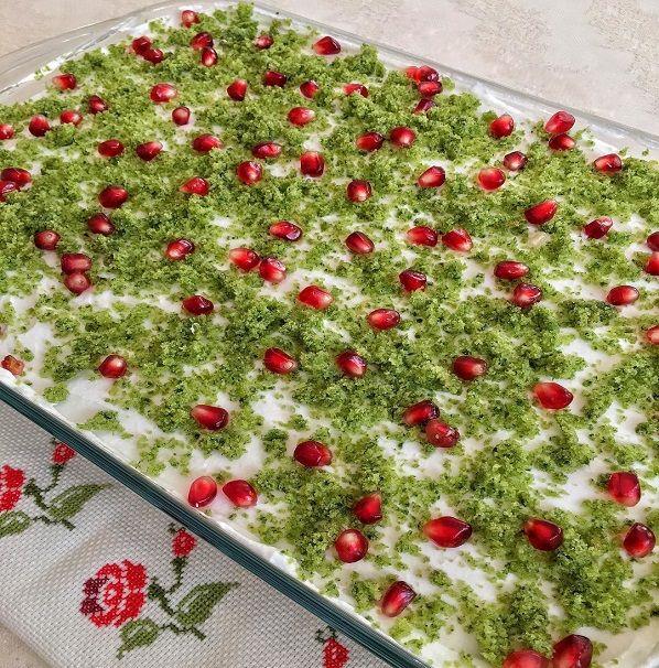 Kremalı Ispanaklı Kek