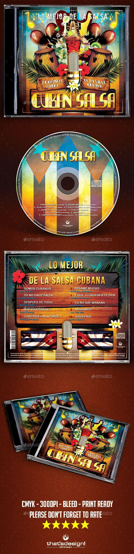 Cuban Salsa CD Artwork Template — Photoshop PSD #latin #salsa ...