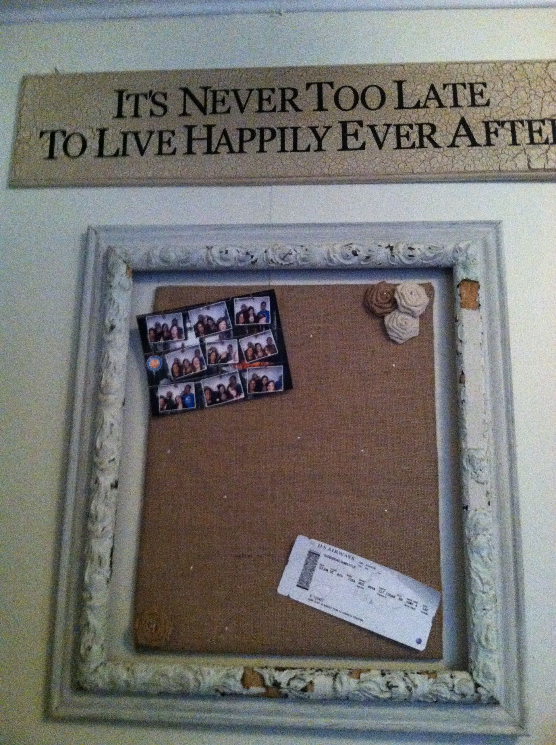 Diy Bulletin Board Just Find A Cheap Old Frame, Buy