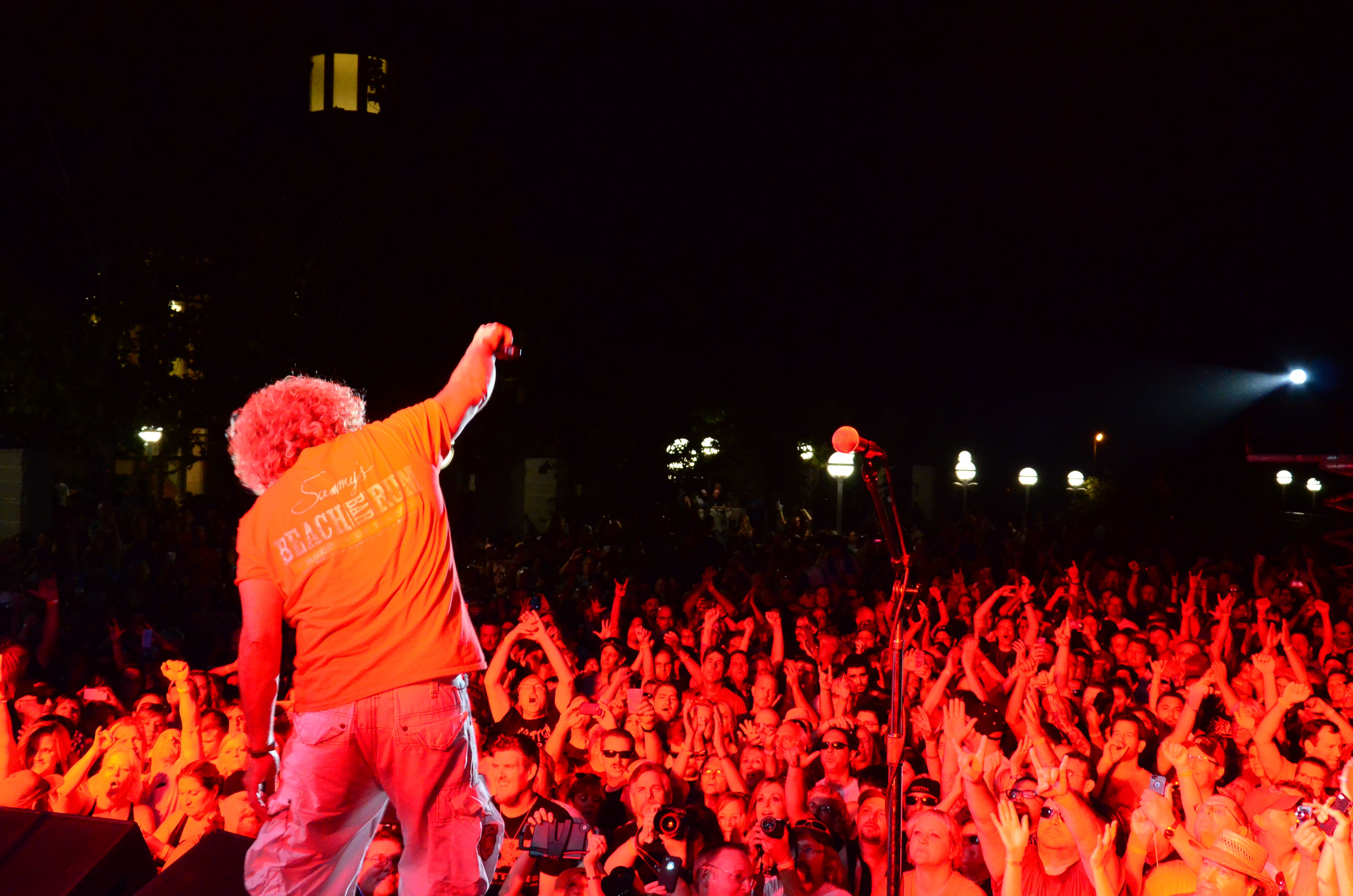 Sammy Hagar Concert In Vernon Street Town Square 9 13 14 Concert Photo Roseville