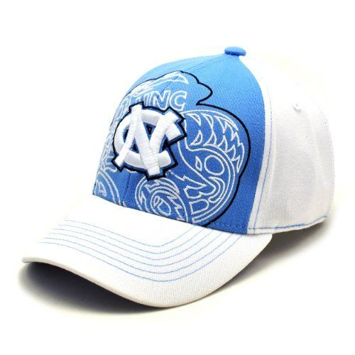 quality design adfb5 ef761 NCAA North Carolina Tar Heels Men s Mixer 1 Fit Cap (White, One Size)