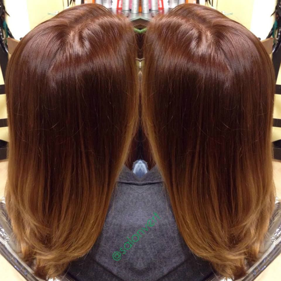 Ombre Salon Vert Kenra 6bc On The Roots To 8g On The Ends