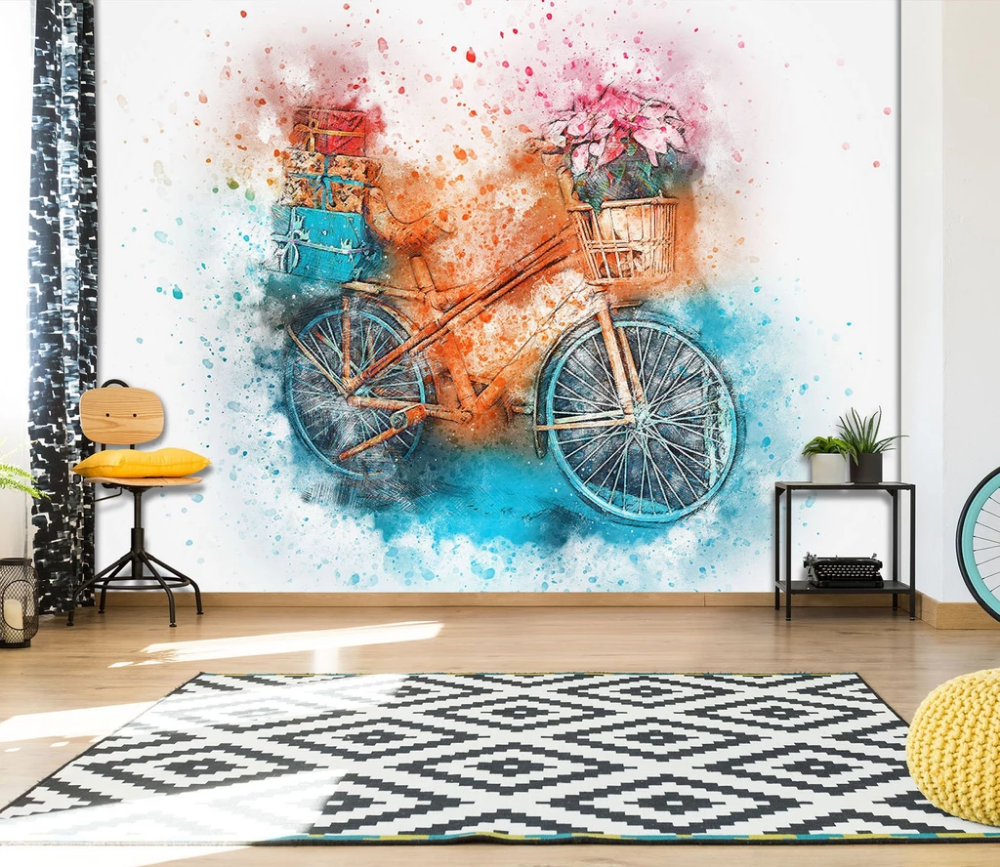 3D Bicycle 923 Vehicle Wall Murals