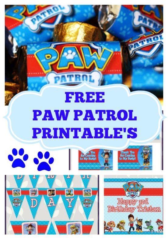 Free paw patrol party printables Paw Patrol Party