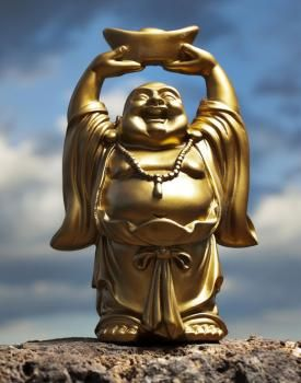 Meaning Of The Laughing Buddha Statue In Feng Shui Lovetoknow Laughing Buddha Buddha Buddha Statue