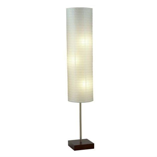 Paper Shade Floor Lamp Mesmerizing Modern Asian Style Floor Lamp With White Rice Paper Shade  Modern Decorating Design