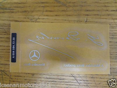 OEM GENUINE MERCEDES BENZ G DAIMLER SIGNED CLEAR WINDSHIELD GLASS DECAL