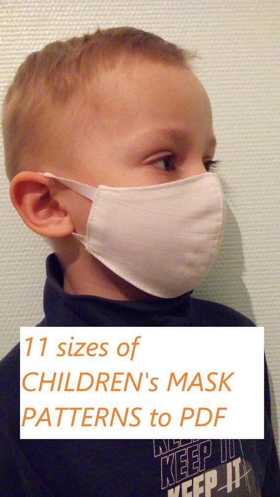 Face mask template PDF downloadable print to PDF,