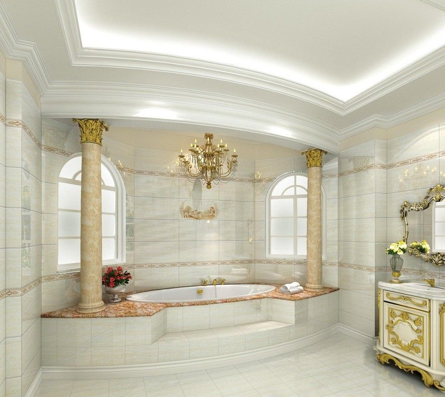 Interior 3D European Luxury Bathroom Design