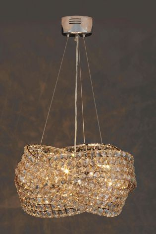 Venetian 5 Light Mink Chandelier From The Next Uk Online