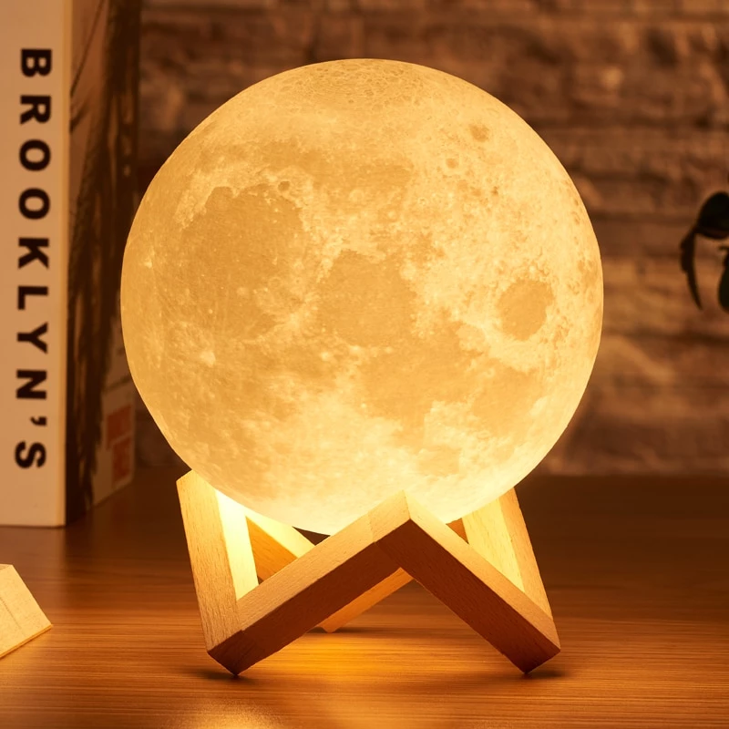 3d Moon Nightlight Lamp Bliss Trace Moon Light Lamp 3d Night Light Night Lamps