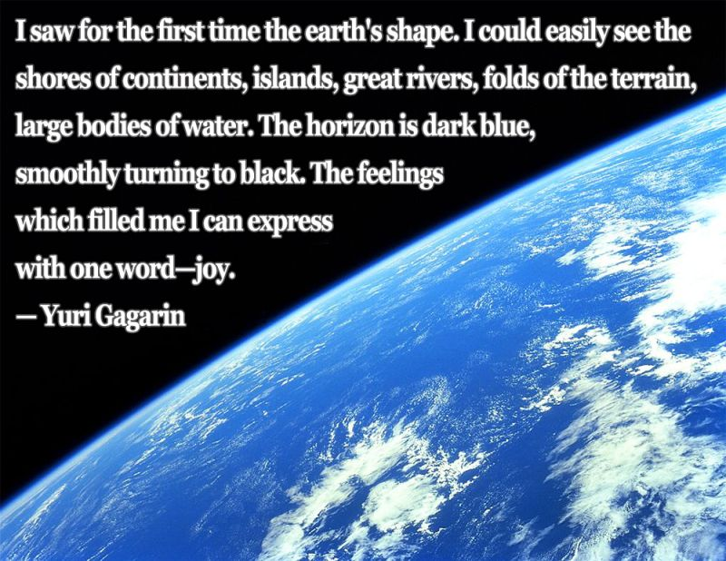Earth Quotes Mesmerizing Yuri Gagarin Quote On Orbiting Earth For The First Time #science . 2017