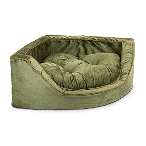 Snoozer Luxury Corner Pet Bed, Large, Olive/Coffee Snoozer http://www.amazon.com/dp/B002RLF3J8/ref=cm_sw_r_pi_dp_V9Xkxb0F6KPMX