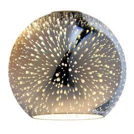 Portfolio 6 3 In H 7 In W Silver Explosion Art Glass Globe