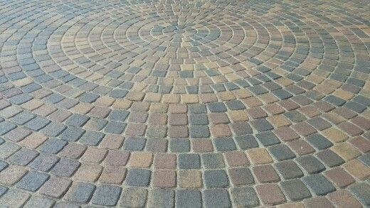 Belgard Cambridge Cobble Circle Bella Color Paver Patio Deck