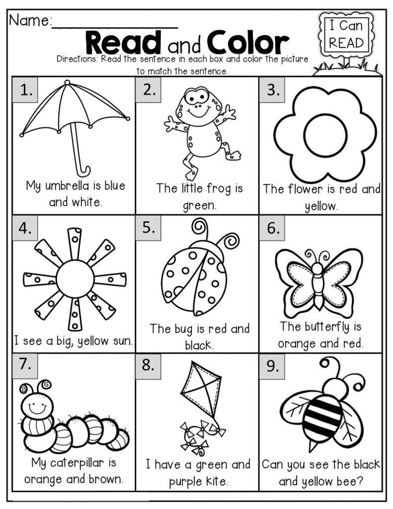 Free Printable Worksheets For 5 Year Olds Kindergarten Reading School Reading Kindergarten Literacy [ 1024 x 791 Pixel ]