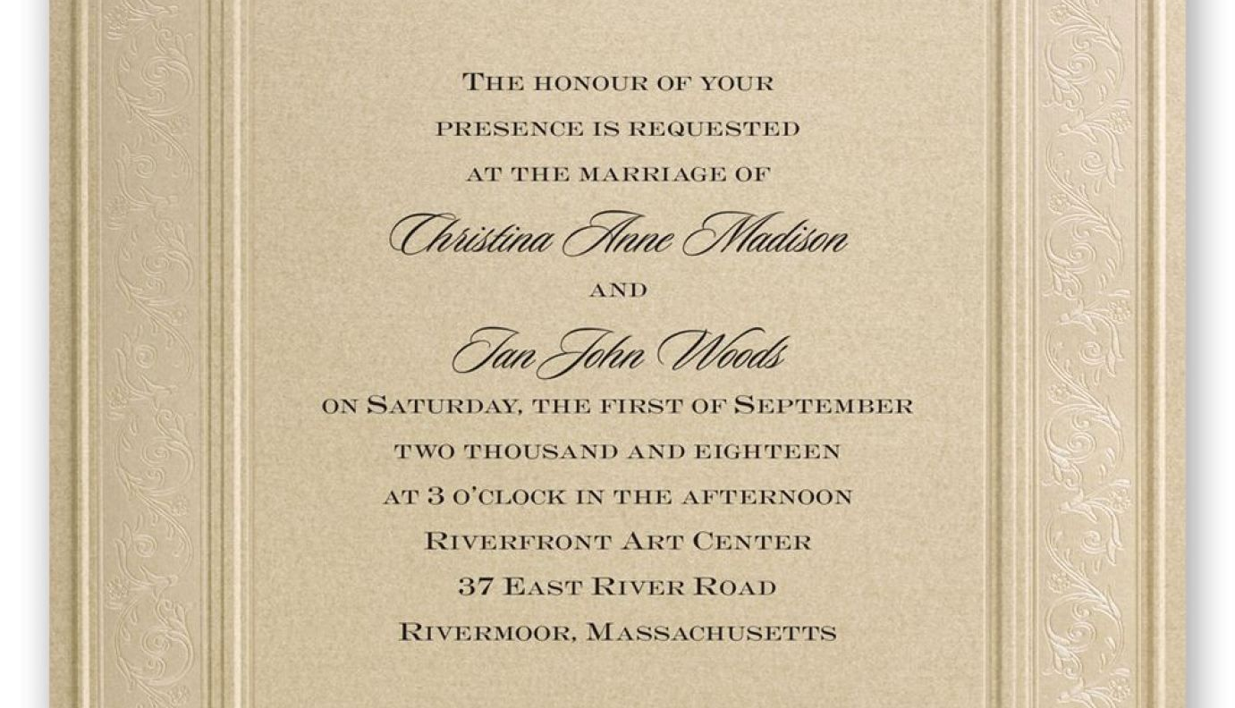 Wonderful Formal Wedding Invitations Elegant Wedding Invitations Invitations