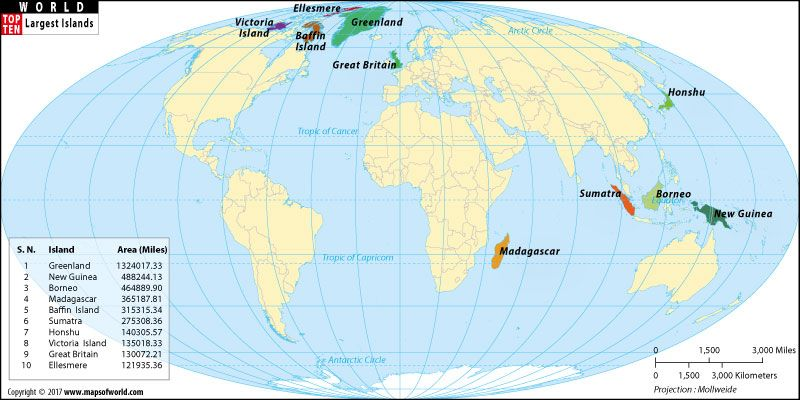 The world map of the top ten largest islands depicts the largest the world map of the top ten largest islands depicts the largest islands in area such gumiabroncs Choice Image