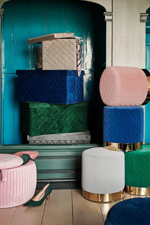 Sitzpoufs Möbel für kleine Räume wohnidee dekoidee