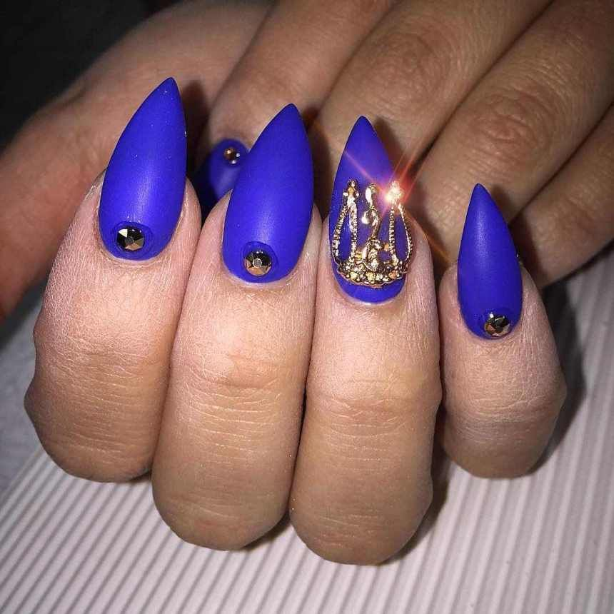 12 Unique Trending Nail Art Designs For 2017: Pointed Nail Art Designs And Ideas 2017