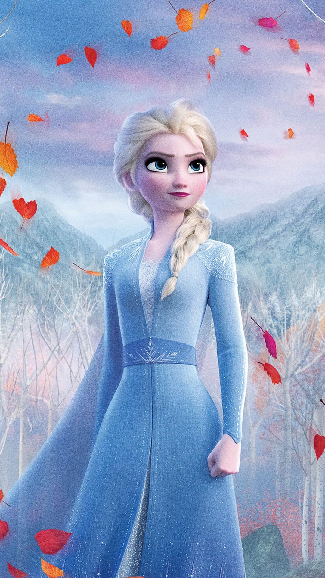 1080x1920 Snow Queen Elsa Frozen 2 Beautiful Queen