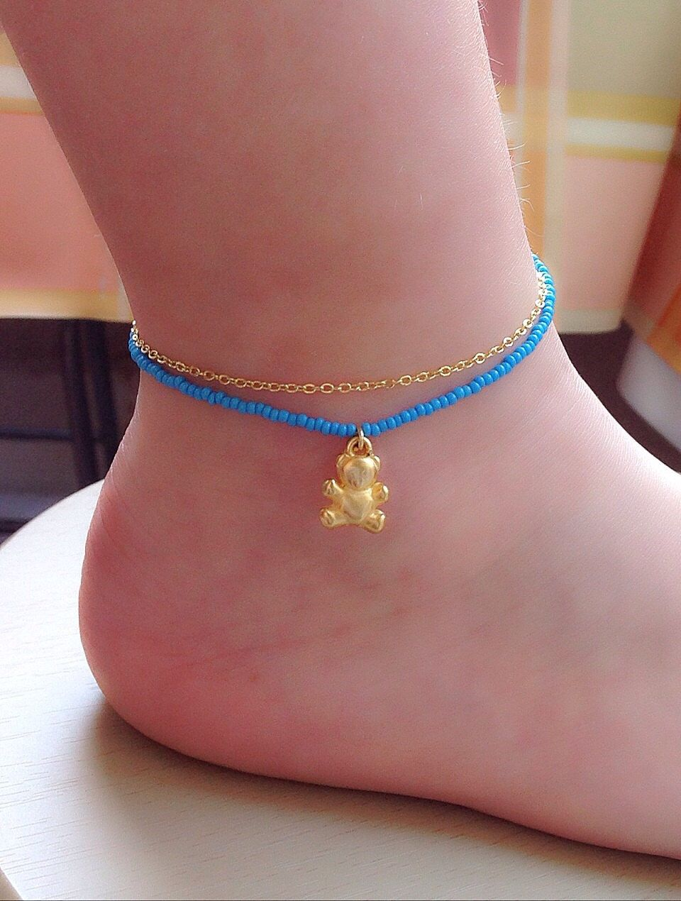 birthstone anklet gold custom com adjustable child mother personalized ankle bracelets custommade charm bangle gallery bracelet silver stackable toddler