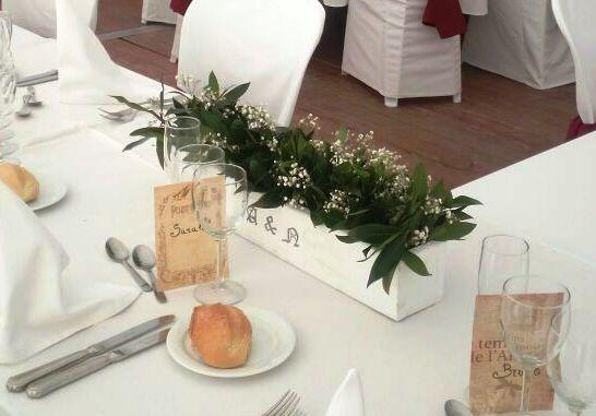 centerpiece main table rustic wedding