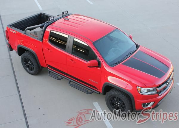 Vehicle Specific Style Chevy Colorado Truck Summit Split Hood Factory Oem Style Truck Racing Stripe Accent Vinyl Graphics Decals Year Fitment 2 Fiat Racing Stripes 2017 Chevy Colorado Chevy