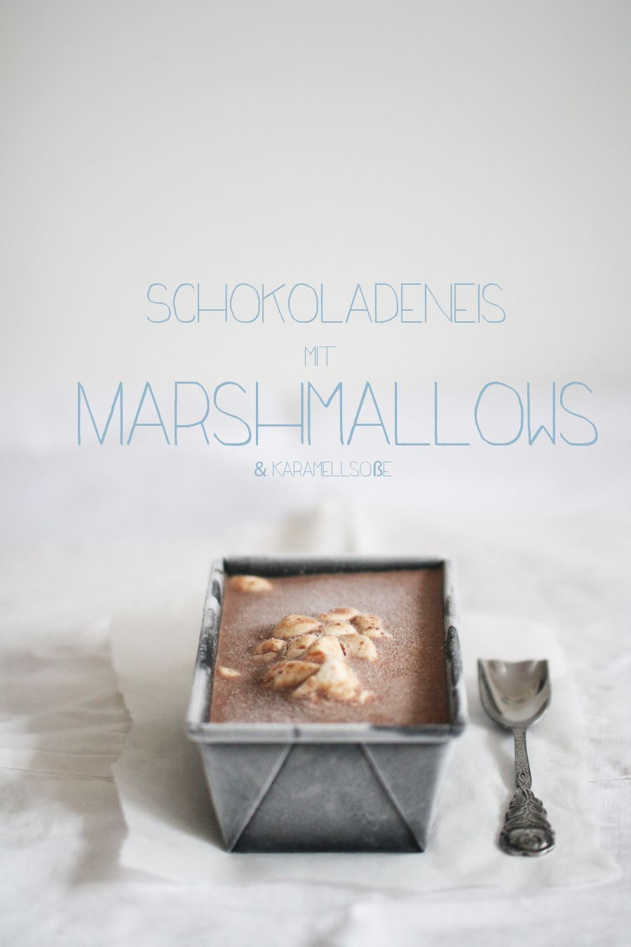 chocOlate ice cream with marshmallows