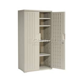 Plastic Storage Cabinet 36x22x72 Light Gray