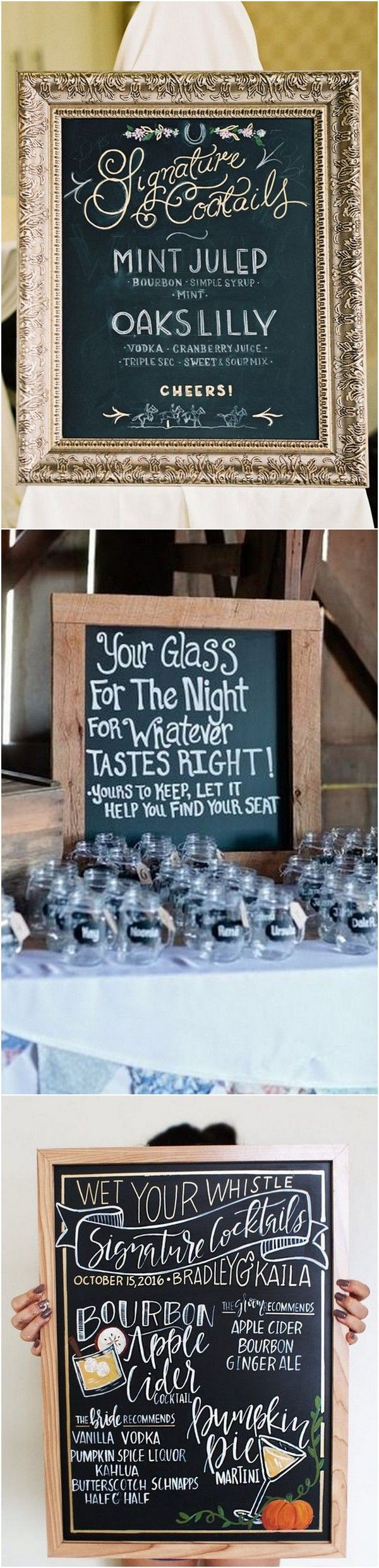Wedding decorations table october 2018  Brilliant Wedding Drink Station Sign Ideas  Page  of  in