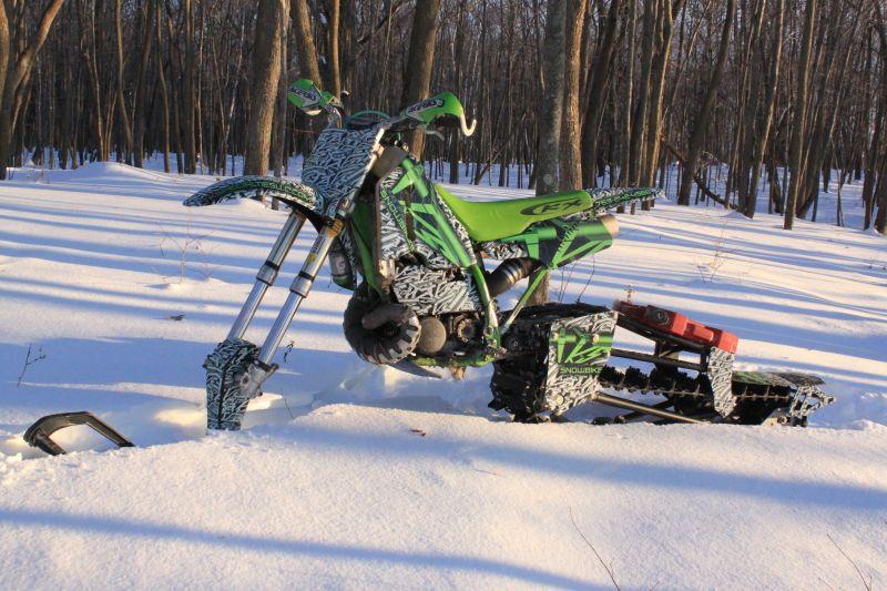 Tks Snowbike Convert Dirt Bike Into A Snow Bike Snowbike Dirtbikes Dirt Bike Gear