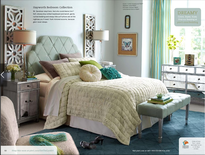 Pier One Tufted Headboard Felicity Script Bedding Pier 1