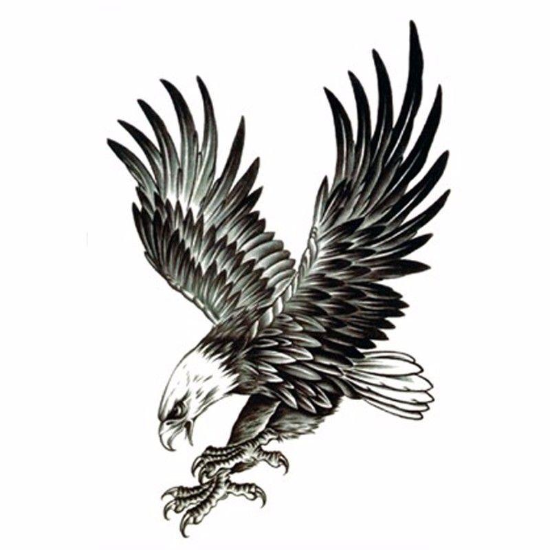 2 개 멋진 독수리 문신 남성 방수 임시 문신 물 전송 스티커 바디 가짜 문신 슬리브 섹스 제품