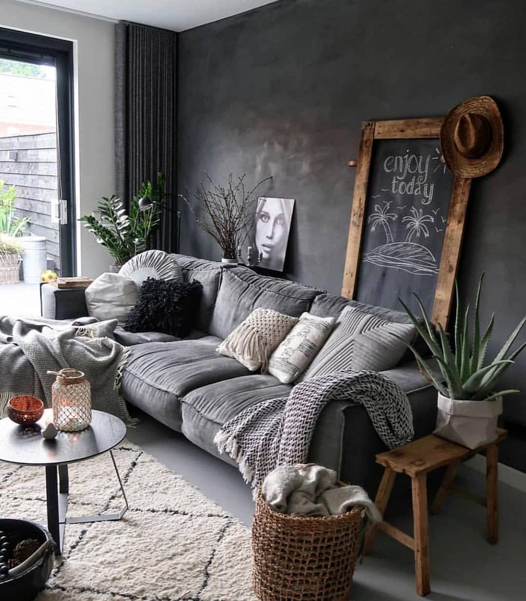 Konsept Works on Instagram: All about grey!  Design by @huizedop . . #design #designer #tasarım #evdekorasyonu #evdekor #natural #doğal #gri #grey #
