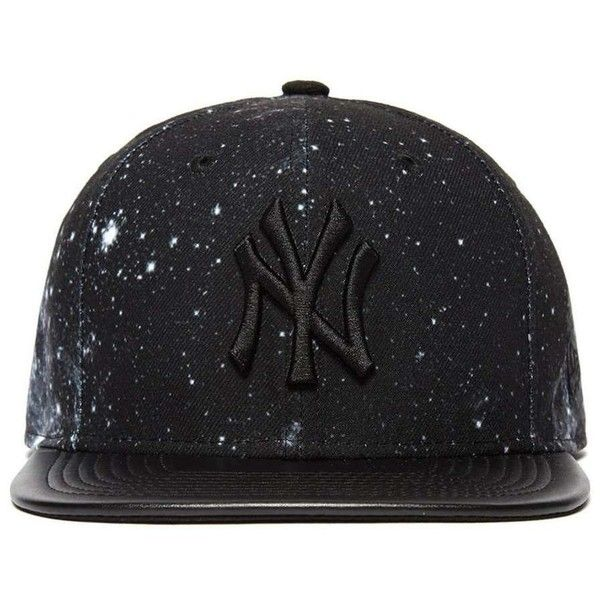 New Era 9FIFTY MLB New York Yankees Snapback Cap ($37) ❤ liked on Polyvore featuring men's fashion, men's accessories, men's hats, black, mens snapback hats and mens caps and hats