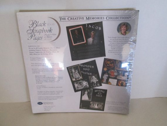 Vintage Style Creative Memories 12x12 Black Refill Scrapbook Pages