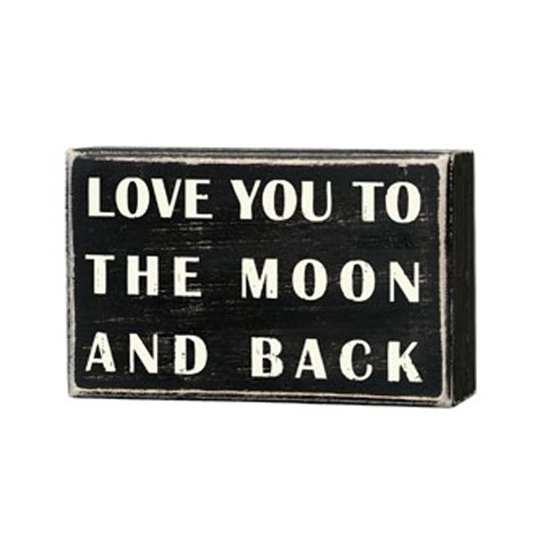 "iThe Message:  Love you to the moon and backibrbrliDimensions: 4""w x 1.75""d x 2.5""hlibrbrThis line features products that have been hand crafted. Small differences in shape, size, su..."