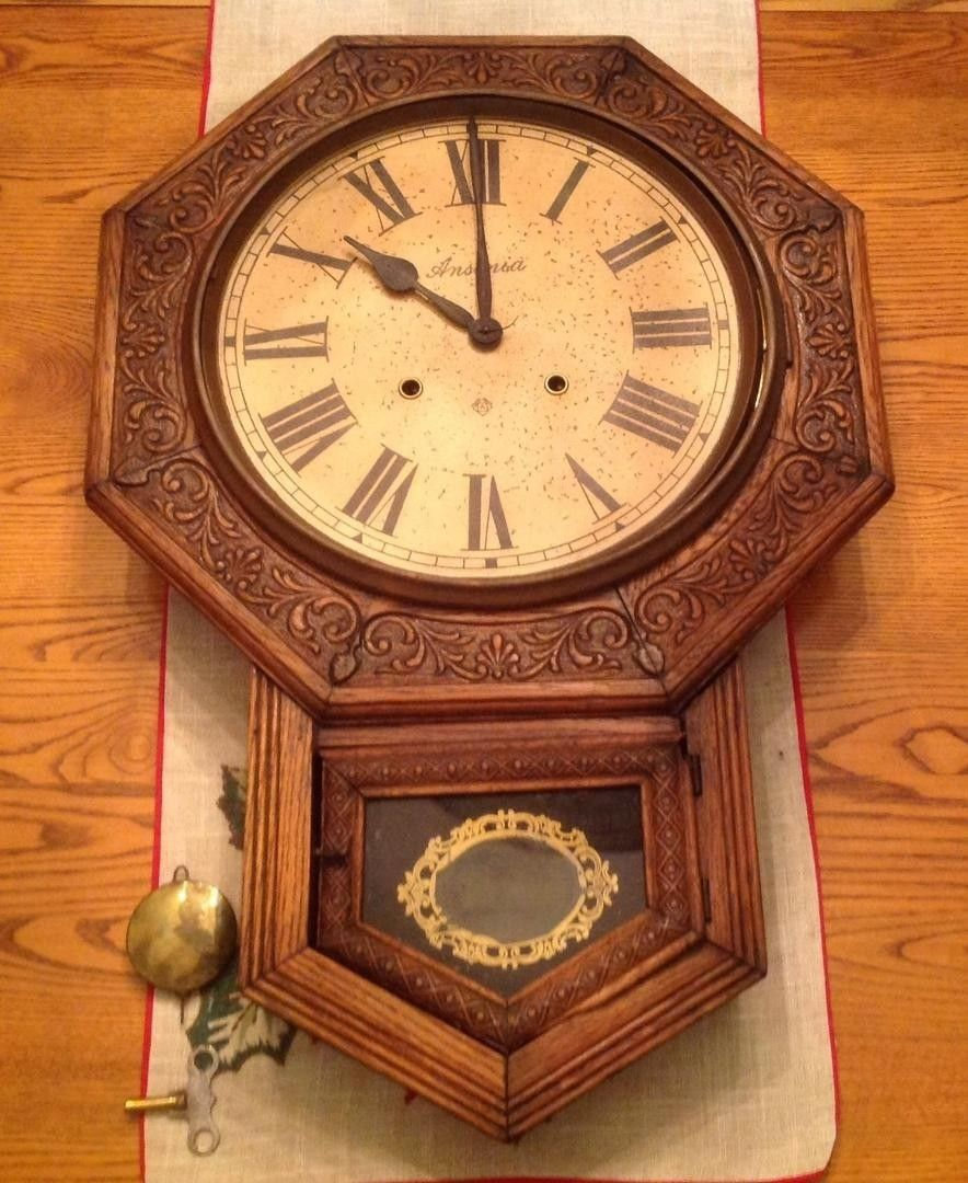 This is a rare antique non working ansonia school house regulator this is a rare antique non working ansonia school house regulator wall clock made by amipublicfo Image collections