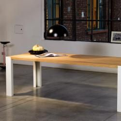 Photo of Motusmentis Plano table, medium version, glass table top, black steel legs Motusmentis